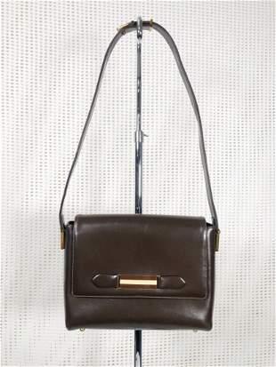 Vintage Gucci Shoulder Bag in Dark Brown with Box