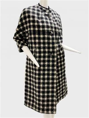 1960 Lili Ann Black and White Checkered Coat