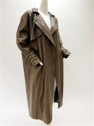 1980 Full Length Leather Coat