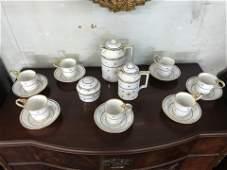 17 Piece German Porcelain Tea Set