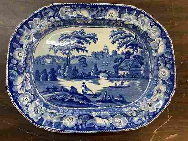 Antique Historical Staffordshire Platter