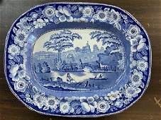 "Antique Historical Staffordshire Platter ""British Views"
