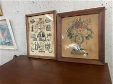 Two Antique Currier Prints