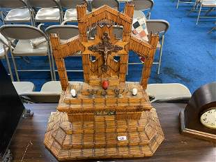 Tramp Art Folk Art Altar