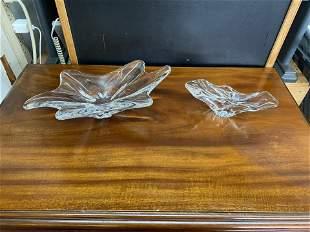 2 Pieces Baccarat crystal