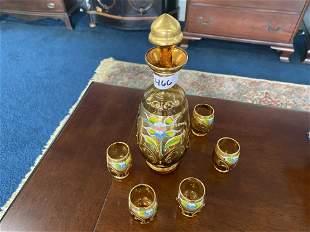 Enamel Decorated Cordial set