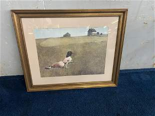 Signed Andrew Wyeth Print