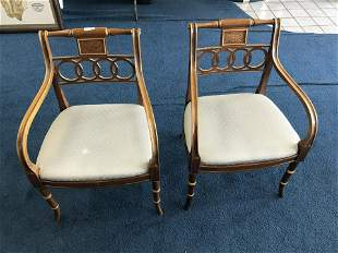 Pair of Hickory Chair Co. Arm Chairs