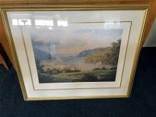 Signed Print Of The Hudson River Valley