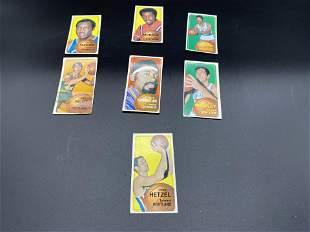 Seven 1971 Topps Basketball Cards