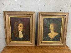 Pair Of Early Portrait Paintings