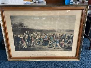 Antique Engraving of Saint Andrews Golf Course