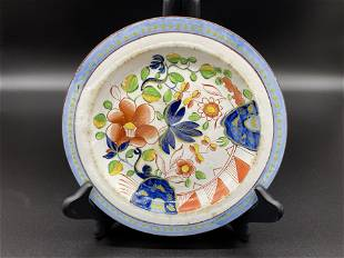 Gaudy Dutch Single Rose Plate