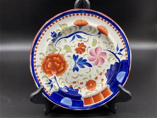 Gaudy Dutch Double Rose Plate