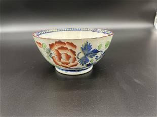 Gaudy Dutch Carnation Waste Bowl