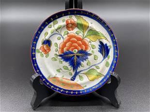 Gaudy Dutch Grape Pattern Toddy Plate