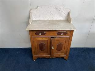 Oak Marble Top Washstand