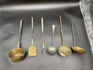 Grouping of Antique Kitchen Utensils