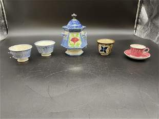 Grouping of Antique Spatterware