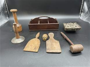 Grouping of Antique Woodenware