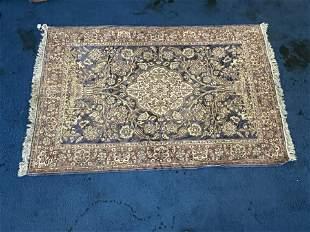 Handmade Oriental Carpet w/ Silk Fill