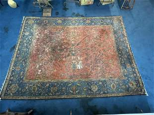 9'x12' Early 20thC German Hooked Rug