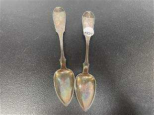Two I Reed&Son Phila. Coin Silver Spoons