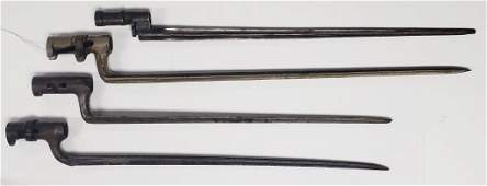 4 Civil War Socket Bayonets