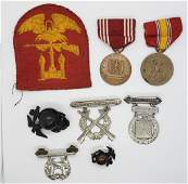 WWII US Marine Corps Lot Patch Badges Globes