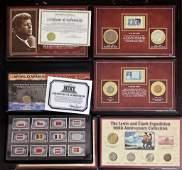 4- COIN & STAMP SETS: WORLD WAR II ,