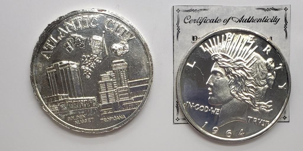 2-REPLICA U.S. COINS OVERSIZED