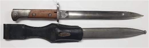 WWII German Occupation Polish WP K98 Bayonet