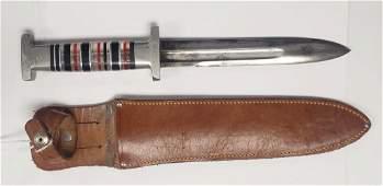 WWII US Theater Made Fighting Knife - W/Sheath