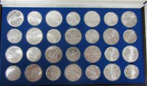 1976 Montreal Canadian Olympic 28 Sterling Coins
