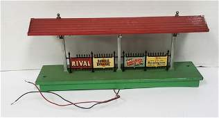 Vintage Lionel 156-13  Train Station Stop Tin Adve