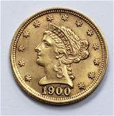 1900 LIBERTY HEAD $2.50 GOLD COIN