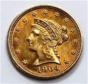 1904 LIBERTY HEAD $2.50 GOLD COIN
