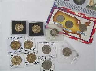 (7) SUSAN B ANTHONY DOLLARS & (6)