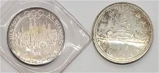 1972 CANADA SILVER DOLLAR & 1972 OLYMPISCHE