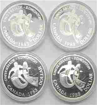 4-1983 CANADA PROOF SILVER DOLLARS