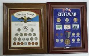 (2) FRAMED COIN SETS: CIVIL WAR
