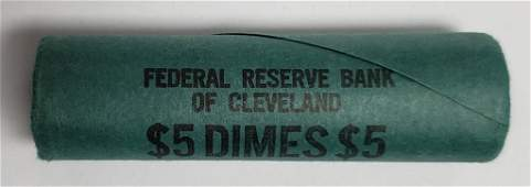 1964 BANK WRAPPED ROOSEVELT DIME ROLL