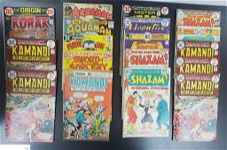 (18) VINTAGE DC COMIC BOOKS - AQUAMAN,