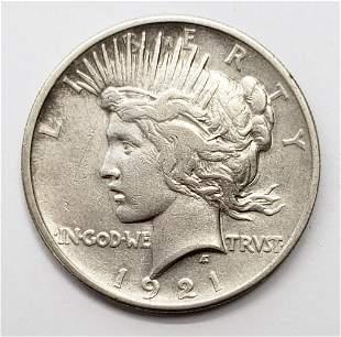 1921 PEACE DOLLAR - KEY DATE