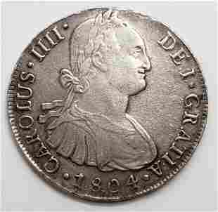 1804 8 REALES SPANISH COLONIAL MEXICO