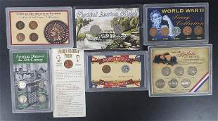 7-TRIBUTE COIN SETS: FRONTIER INDIAN HEADS,