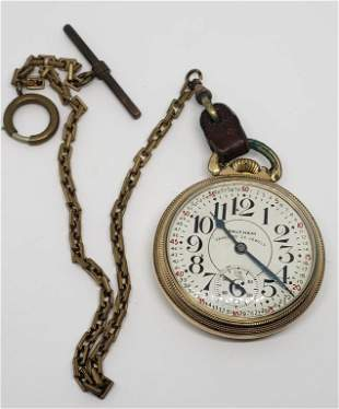 Vintage Waltham Vanguard Railroad Pocket Watch 23j