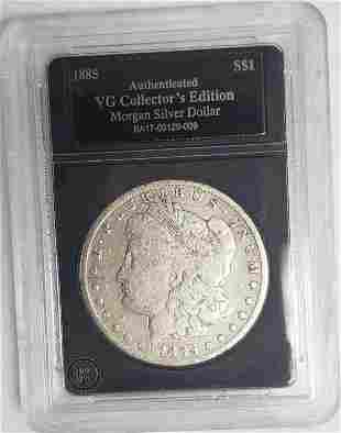 1885-O Morgan Silver Dollar - Authenticated VG