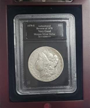 1879-S Morgan Silver Dollar - Reverse of 1878 - VG
