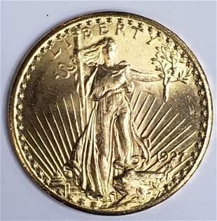 1927 $20 ST GAUDENS GOLD COIN
